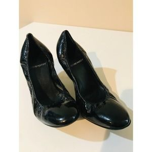 Pierre Hardy rouched black patent leather heels